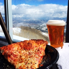 Pizza and Beer at 10,000 feet.  Being so high has never tasted so good.
